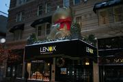 A giant Lindt bear at the Lenox Hotel on Boylston Street in the Back Bay.