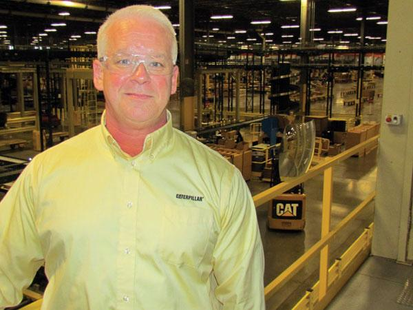 Brian Purcell is the new general manager at the Caterpillar Logistics distribution center in Clayton, which broke ground a new training center at the site.