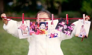 An example of paper products from Millbrae-based Paper Culture, which offers high-end personal greetings and an expanding array of other paper products. Bella, pictured here, is the daughter of CEO Christopher Wu.