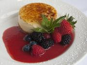 Here's another tasty looking food shot: The featured desert at the Capital Grille in Rookwood is cheesecake with fresh fruit.