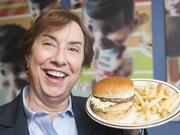 This year brought the union of two things we love: Baseball and Big Boys. Frisch's Restaurants Inc. exec Karen Maier posed with a  plate of the signature item, now served at Great American Ball Park.