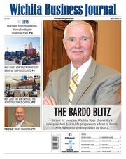 The Bardo blitz: In just 12 months, Wichita State University's new president has made progress on a host of fronts. And there's no slowing down in Year 2. Publication date: July 5 Author: Josh Heck