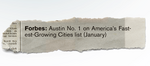 On most 2013 lists, Austin was No. 1 with a bullet