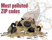 Most polluted ZIP codes