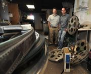 From left, Darren Grout and Gunther Fishgold who are renovating Madison Theatre in Albany, NY.
