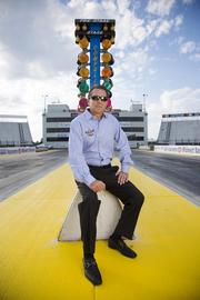 Curtis Fancois, owner of Gateway Motorsports Park poses for a photograph at the racetrack.