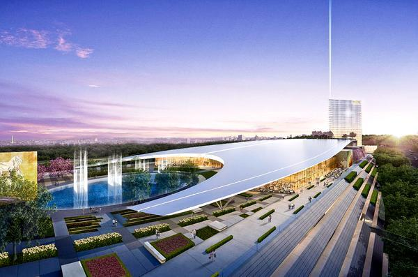 Proposed rendering of MGM casino at National Harbor.