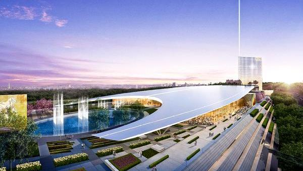 Heavy construction equipment is on the way to a 23-acre parcel of land near the National Harbor as work will begin shortly on the $925 million luxury gambling resort, according to a report from the Washington Post. This is a proposed rendering of the MGM casino at National Harbor.