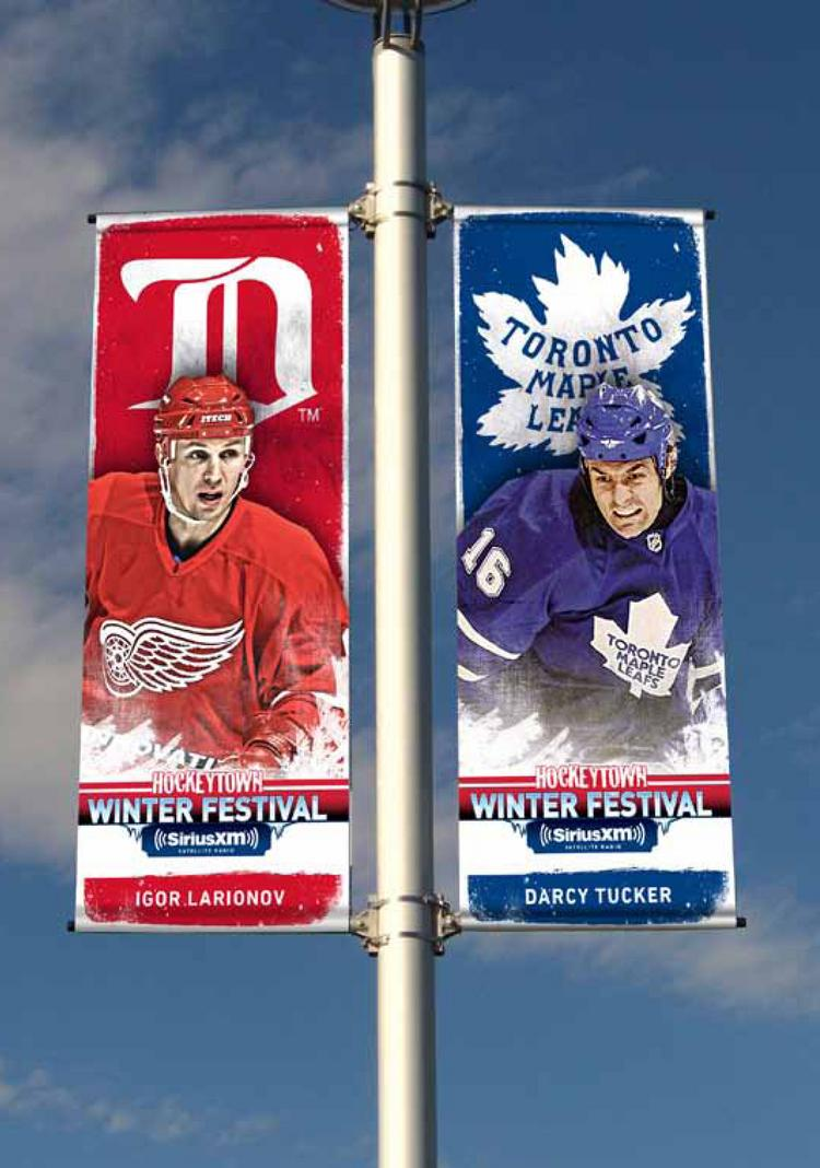 Marketing Activations Group developed signage and other marketing materials for the NHL's Winter Festival in Detroit this week.