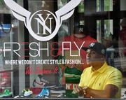 Angelo Maddox, owner of Fresh & Fly, an urban retail store in downtown Albany, NY.