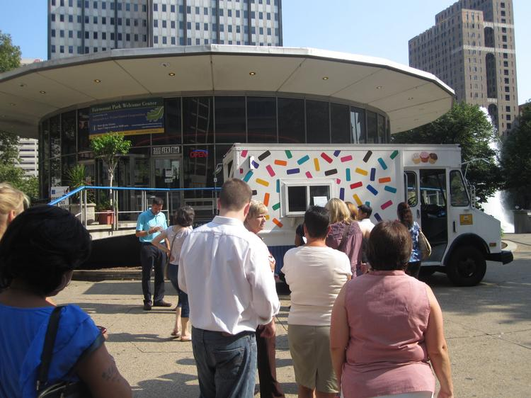 A proposal to add restaurants to LOVE Park could generate revenue and build on the success of food trucks at the Center City park. But critics say the idea has flaws.