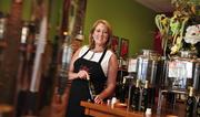Kathy Connolly, owner of Oliva!, a retail store at Stuyvesant Plaza in Guilderland, NY.