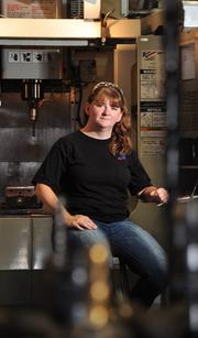 Theresa Wederman, an employee at Simmons Machine Tool Corp. in Menands, NY.
