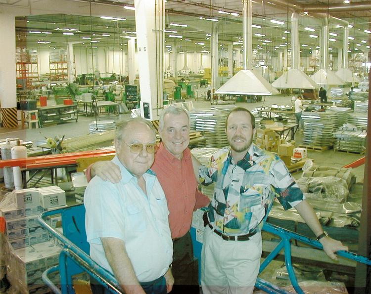 Del Beutler, the founder and namesake of one of the Sacramento region's largest and most ubiquitous HVAC companies, has died. Here, Del Beutler is seen with son Gary Beutler and current company presient Rick Wylie.