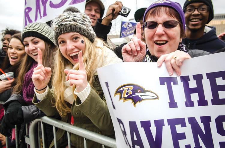 The Ravens victory parade drew hundreds of thousands to the streets of Baltimore and an overflow crowd to M&T Bank Stadium.