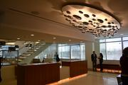 The fourth-floor lobby was designed to mirror hotel check-in desks so guests and associates will immediately recognize the setting as one that belongs to a hospitality company. Choice occupies six of the 11 floors.