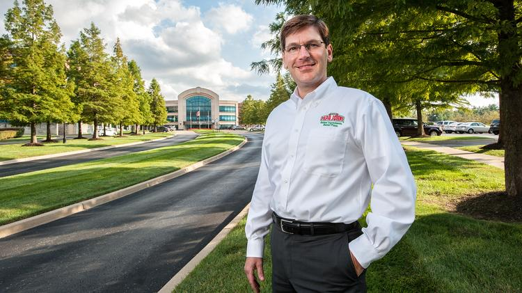 Tony Thompson, president and chief operating officer of Papa John's International, will replace Jim Morgan as CEO of Winston-Salem-based Krispy Kreme Doughnuts Inc.