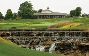 The view of the Valhalla club house from the 18th Hole.