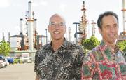 Bill Haywood, left, and Tom Weber are the two key executives tasked with making Par Petroleum's bet on Hawaii pay off.