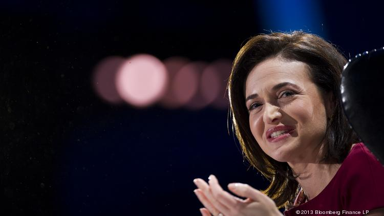 Sheryl Sandberg, chief operating officer of Facebook Inc., speaks during the DreamForce Conference in San Francisco, Calif. in November.