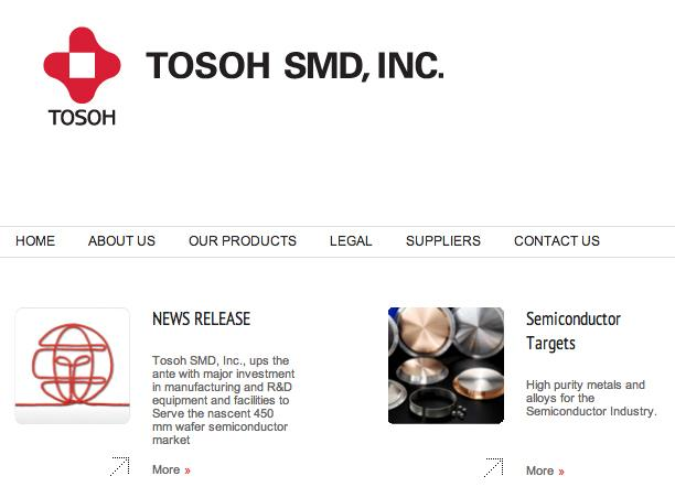 Tosoh SMD is kicking off the biggest expansion in the company's 38-year history.