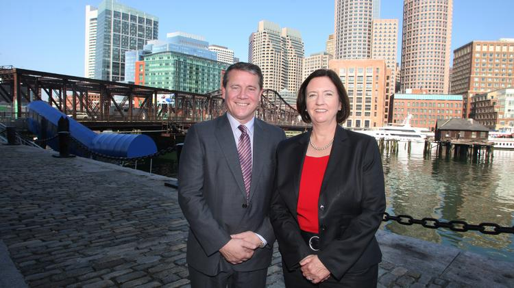 Former police commissioner Kathy O'Toole helped Netwatch CEO David Walsh expand in the Boston area.