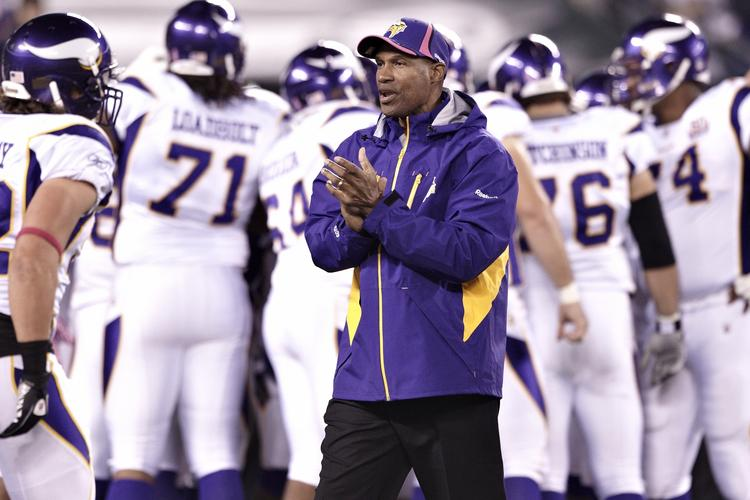 Leslie Frazier led the Minnesota Vikings to a record of 21-32-1 in a little over three years as the team's head coach.