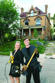Fast Trackers and newlyweds Justine Kasznica Thornton and her husband, John Thornton, are rehabbing their Highland Park home. Read more about the Thorntons and the other Fast Trackers  here.