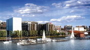 A wide view of Riverfront on the Anacostia, a planned 1 million-square-foot mixed-use development from MRP Realty and Florida Rock Properties.