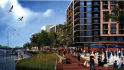 Rendering of Riverfront on the Anacostia, the first phase only.