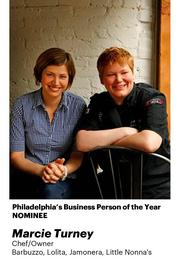 """Marcie Turney (left) was called the """"Mayor of 13th Street"""" by one PBJ.com commenter. She's the chef/owner of Jamonera, Barbuzzo, Lolita, Marcie Blaine Chocolate, Grocery, Verde, & Little Nonna's.."""