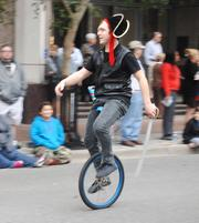 What's more menacing than a pirate on a unicycle? Nothing.