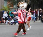 University of Wisconsin-Madison mascot, Bucky Badger. His team plays on Jan. 1 in the Capital One Bowl.