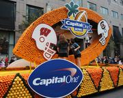 And here's your official big Capital One Bowl match-up float