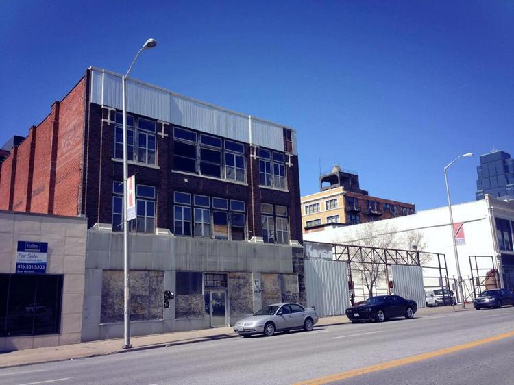 The old Maxwell Briscoe Garage at 1612 Grand Blvd. will be redeveloped as the MBG Lofts and commercial space.