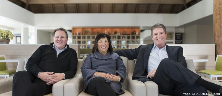 Inside Source/Young's principals are, left to right, Dave Denny, Rose Young and Paul Stier.