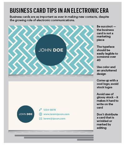 Business card tips in an electronic era.