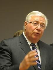 Former Snohomish County Executive Bob Drewel emphasized his respect for Machinists.