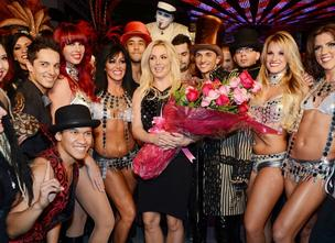 Britney Spears celebrates her official arrival at Planet Hollywood Resort & Casino on December 3, 2013 in Las Vegas.