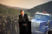 Sometimes even a simple CEO shot is a winner. Here's Daimler Trucks North America CEO Martin Daum in September announcing that the company would consolidate it headquarters in Portland.