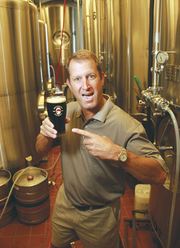 Gary Fish, founder of Deschutes Brewery, lets his personality shine in this photo.