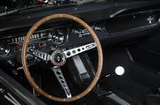 Another wheel shot of the 1965 Caspian Blue Ford Mustang.
