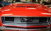Frontal view of 1968 '347' Ford Mustang convertible with Shelby hood.