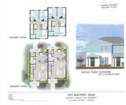 A rendering of the proposed homes Habitat for Humanity would build in Atlantic Beach.