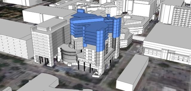 A rendering of the planned expansion of the Monroe Carell Jr. Children's Hospital at Vanderbilt.