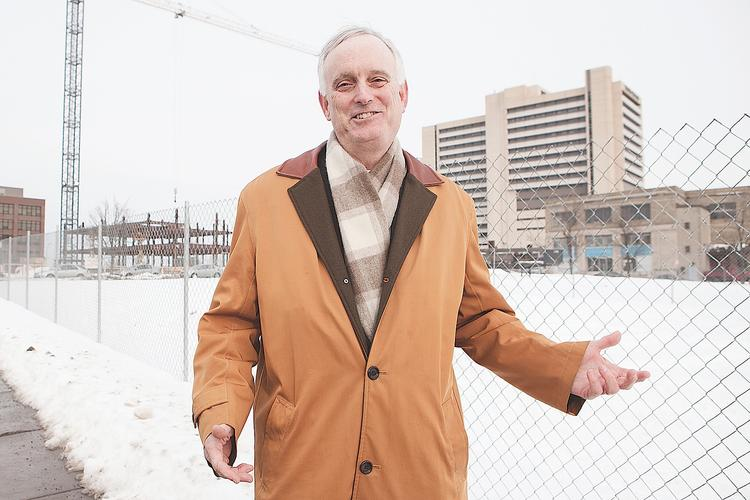 Buford Sears, First Niagara Bank market executive for Buffalo, is leading the charge as the bank invests in the Buffalo Niagara Medical Campus corridor. The bank donated land for the new University at Buffalo medical school.