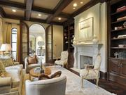 The mansion at 4236 Lorraine Avenue in Highland Park has a number of living areas with a modern Mediterranean design.