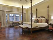 The luxury home includes five bedrooms.