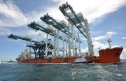 PortMiami brings in four Super post-Panamax Cranes. Read more about this story here: http://bizj.us/u0jxj