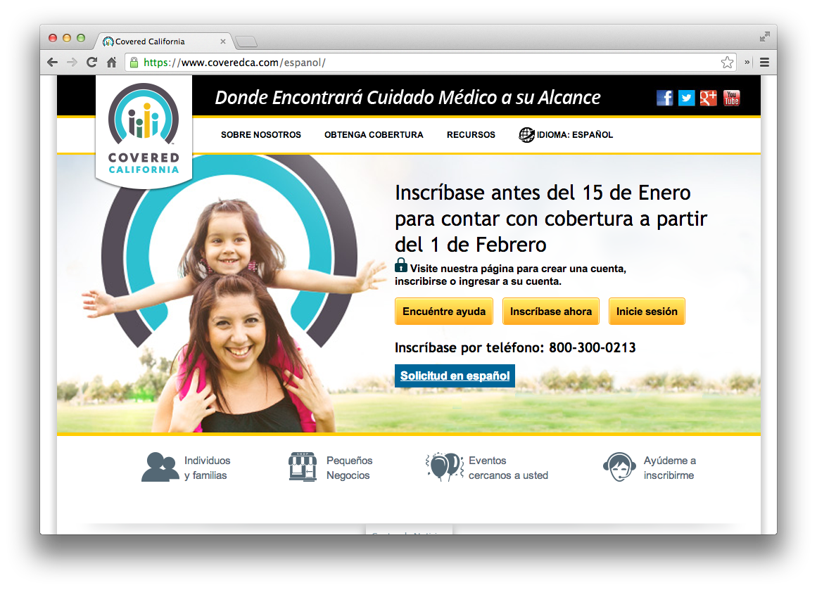 Covered California Now Offers Spanish Language Enrollment